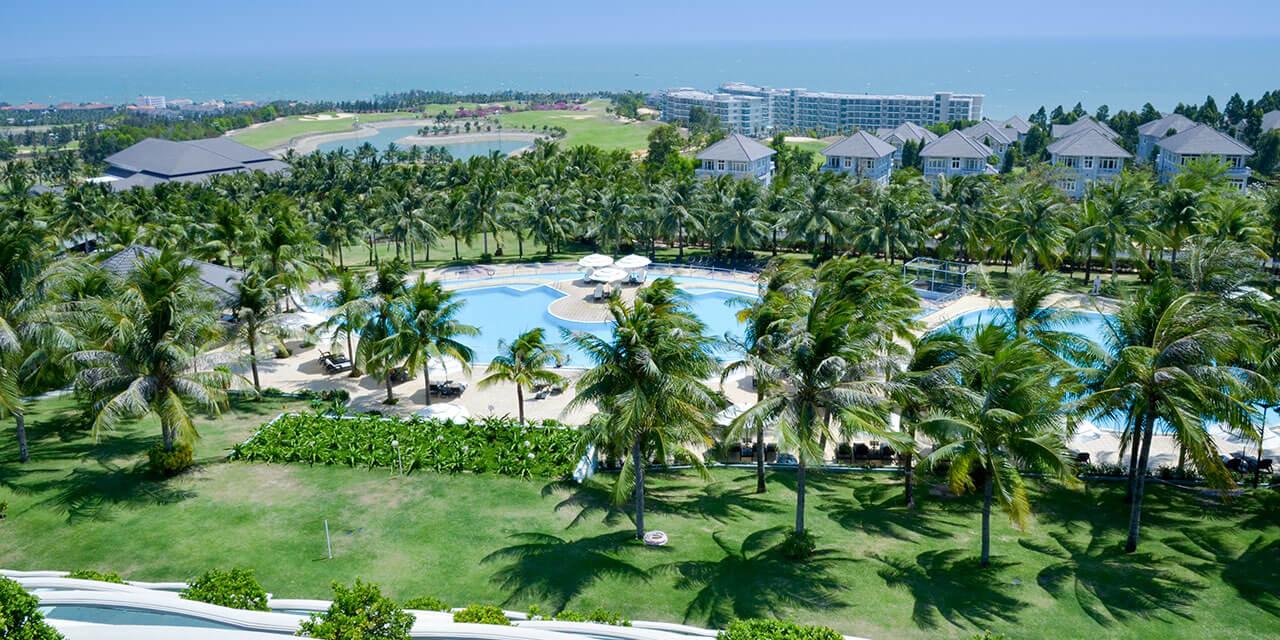 Dòng cỏ Paspalum trồng cho resort bãi biển cao cấp